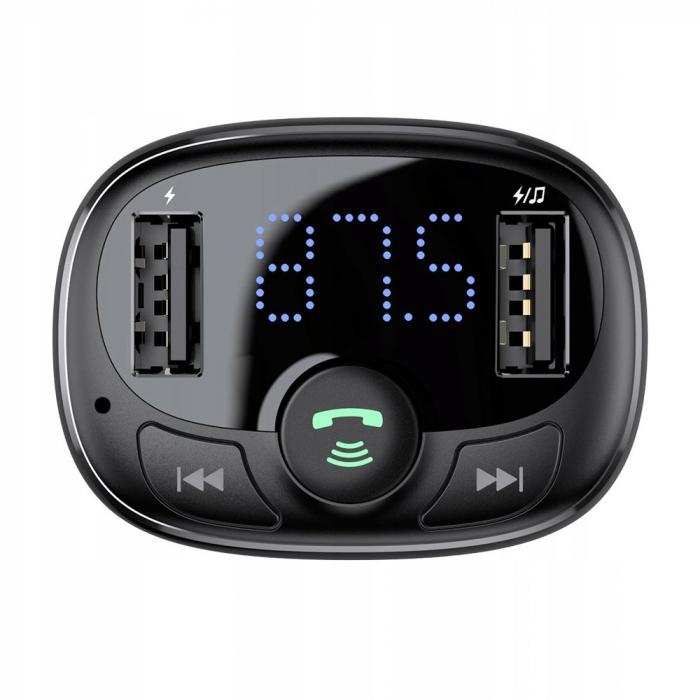 Incarcator auto Baseus T-Typed modulator FM 2xUSB CCTM-01 3.4A [3]