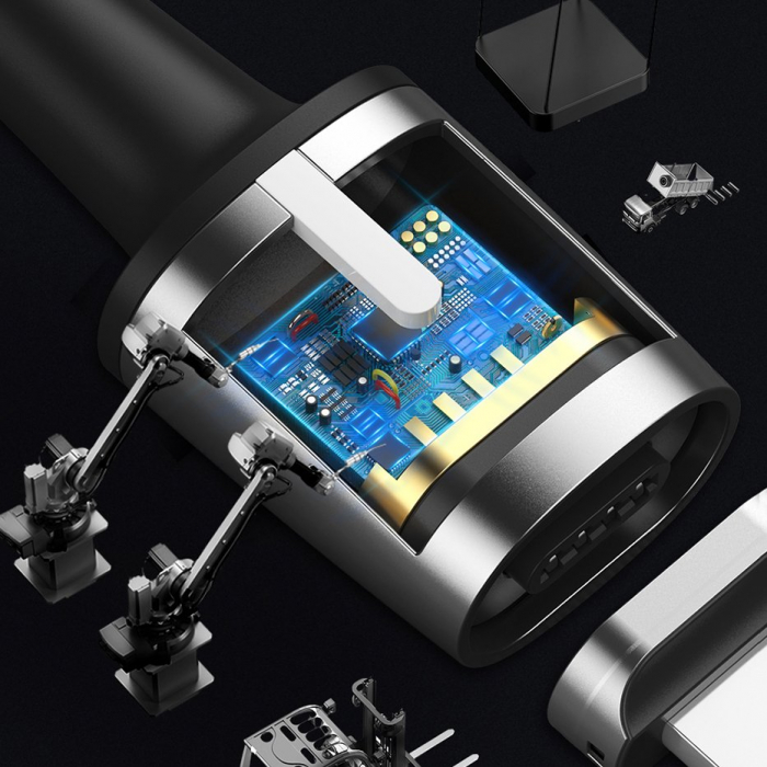 CABLU BASEUS ZINC MAGNETIC LIGHTNING 1.5A 2M CALXC-B01 6