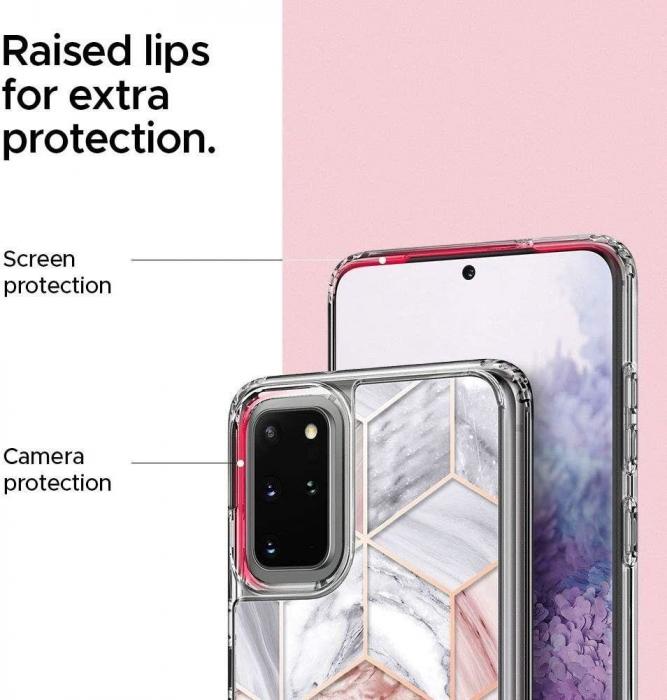 Husa Spigen Ciel Etoile Samsung Galaxy S20 Plus Pink Marble 3