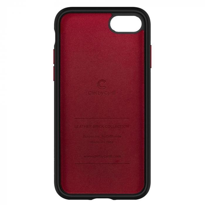 Carcasa Spigen Ciel Leather Brick iPhone 7/8/SE 2020 Red 1
