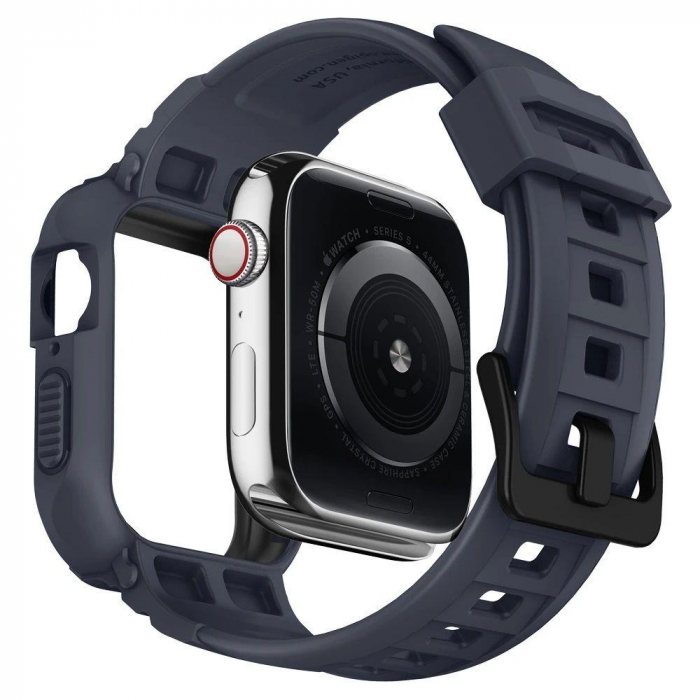 CUREA SPIGEN RUGGED ARMOR PRO APPLE WATCH 44MM CHARCOAL GREY 4