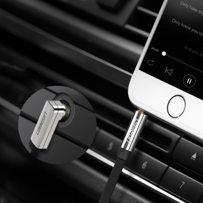 Cablu Ugreen auxiliar audio jack - jack 3.5mm 1m [2]