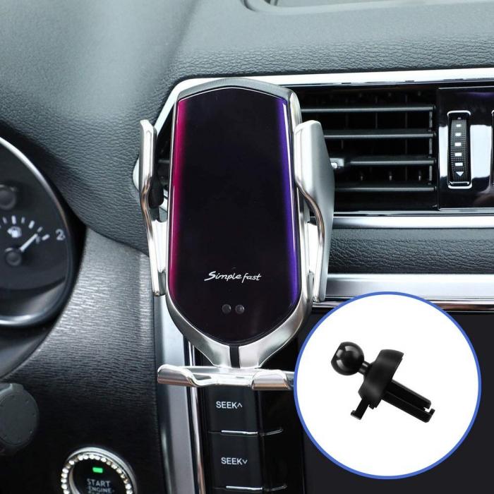Suport auto incarcare wireless10W QI, prindere ventuza/ventilatie [4]