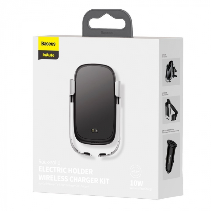 Suport auto Baseus Rock Solid wireless WXHW01-B0S gri [5]