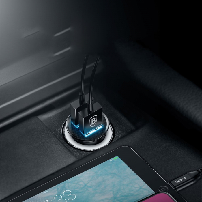 Incarcator auto Baseus Circular 2XUSB quick charge 3.0 SPC AFC 30W CCALL-YD01 [6]