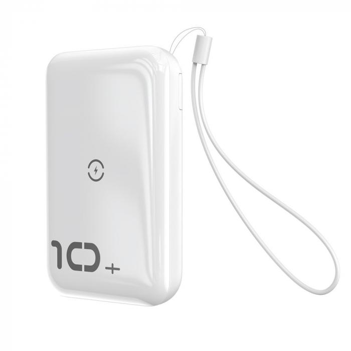 Baterie Externa Power Bank Baseus Mini S Bracket Wireless Charger Qi, 10000mAh, Alb 6