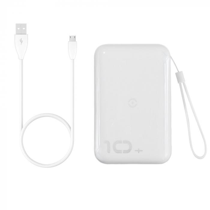 Baterie Externa Power Bank Baseus Mini S Bracket Wireless Charger Qi, 10000mAh, Alb 1