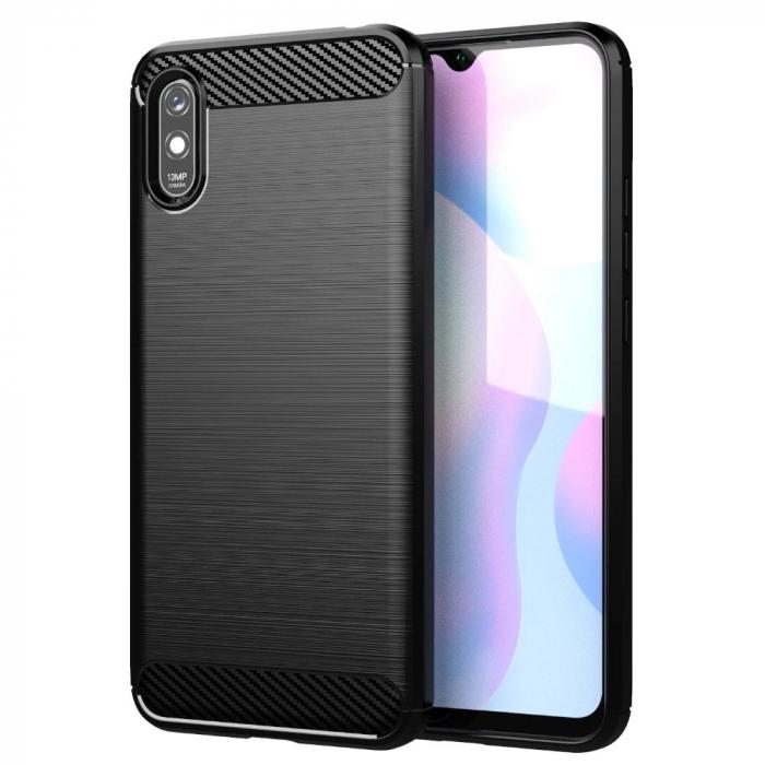 HUSA Carbon Case Flexible Cover TPU  Xiaomi Redmi 9A 0