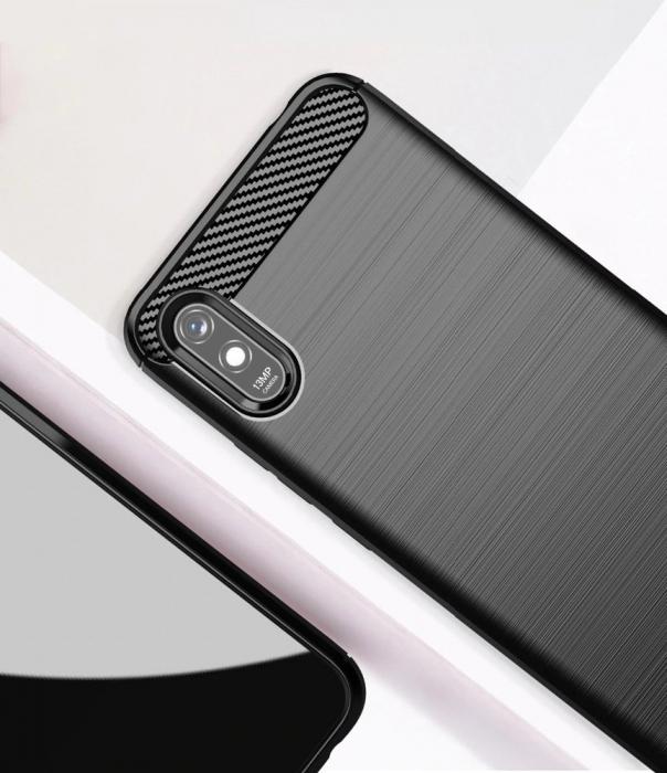 HUSA Carbon Case Flexible Cover TPU  Xiaomi Redmi 9A 3