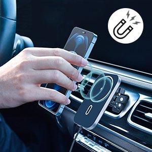 Incarcator auto Choetech Magnetic 15W MagSafe T200-F+ priza USB - USB Type C [9]