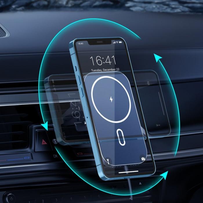 Incarcator auto Choetech Magnetic 15W MagSafe T200-F+ priza USB - USB Type C [5]