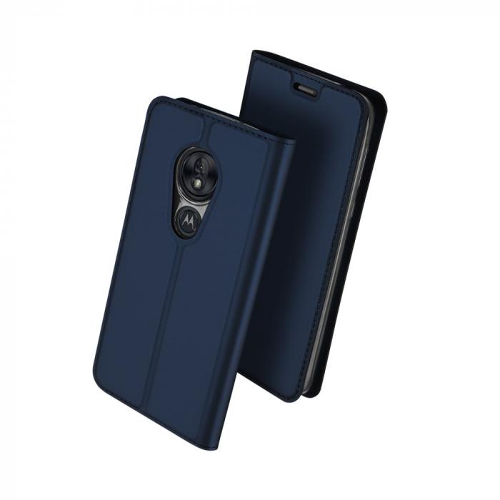 Husa Carte Dux Ducis Anti Amprenta pentru Motorola Moto G7 Play, Albastru 1
