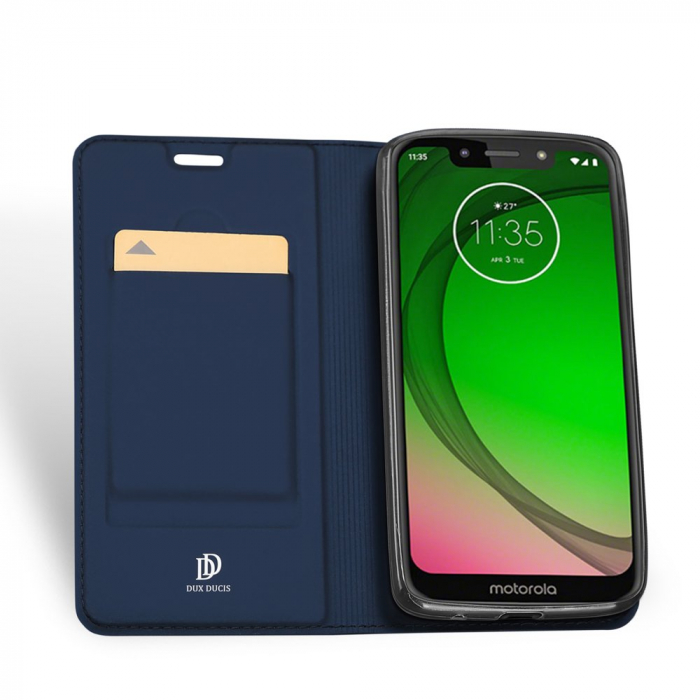 Husa Carte Dux Ducis Anti Amprenta pentru Motorola Moto G7 Play, Albastru 2