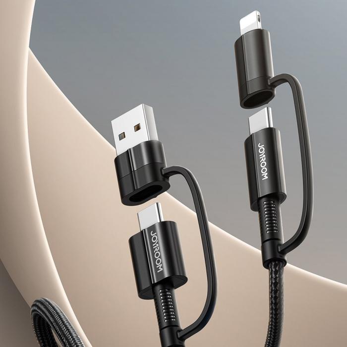 Cablu Joyroom 4 in1 - USB Type C / USB - USB Type C / Lithtning  3 A 1,8 m [2]