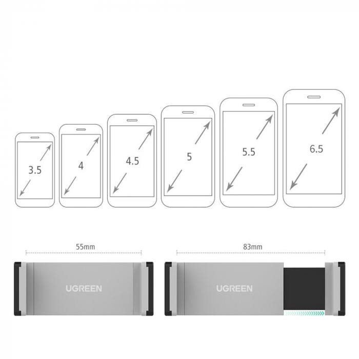 Suport auto Ugreen Smartphone universal 3.5 - 6.0 inch [1]