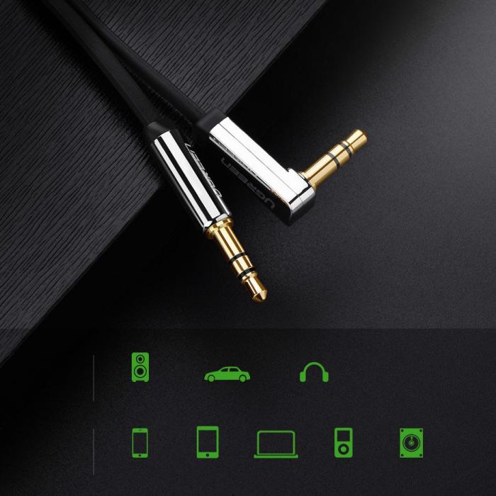 Cablu auxiliat audio Ugreen jack 3.5mm plat 2m [4]