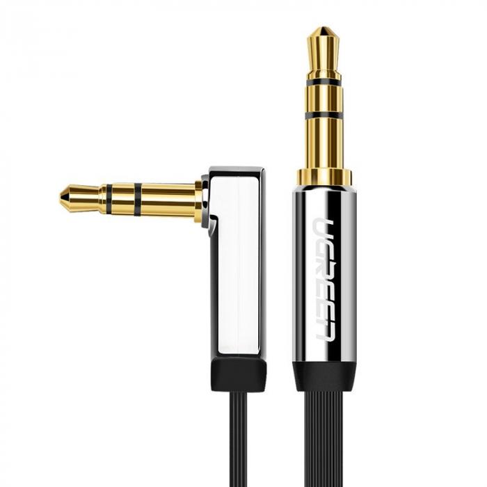 Adaptor Ugreen auxiliar Minijack plat 3m argintiu [0]