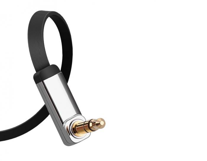 Adaptor Ugreen auxiliar Minijack plat 3m argintiu [7]