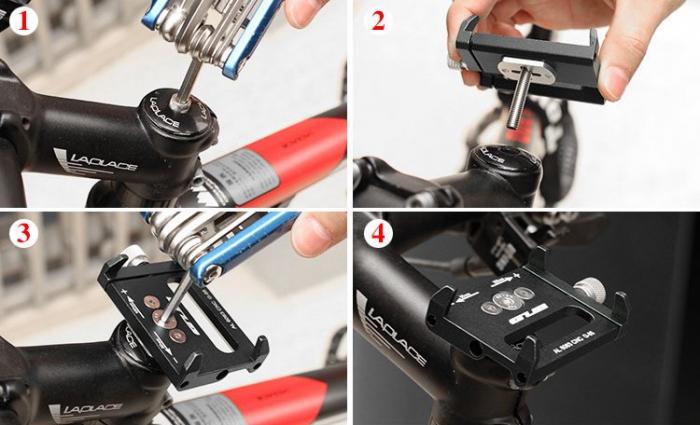Suport bicicleta Wozinsky pentru telefon cu prindere pe ghidon [2]