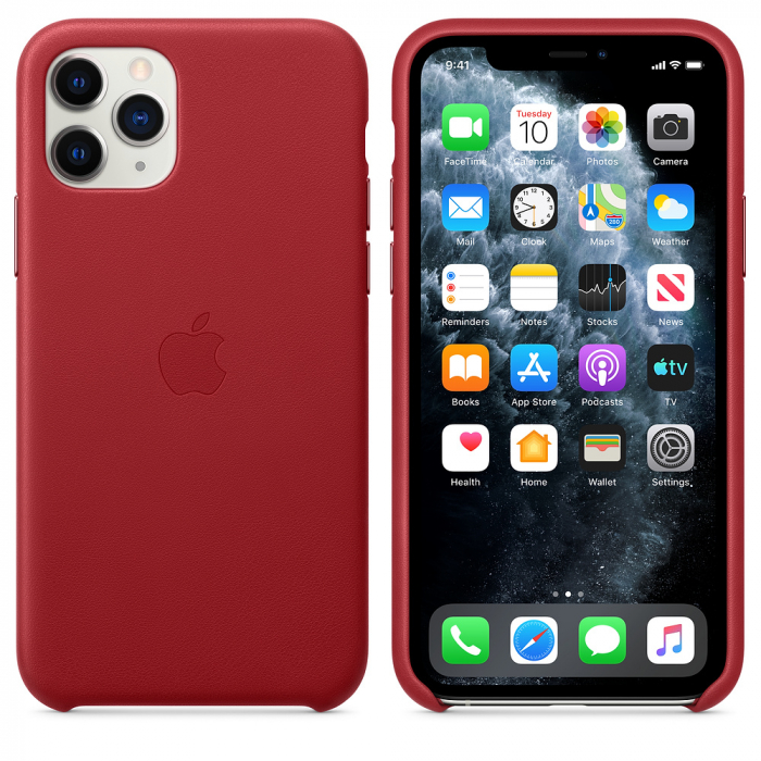 HUSA APPLE IPHONE 11 PRO LEATHER CASE RED 2
