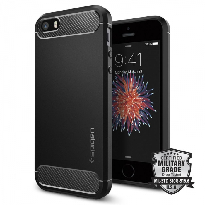 Husa Spigen Rugged Armor Iphone 5/5s/SE 0