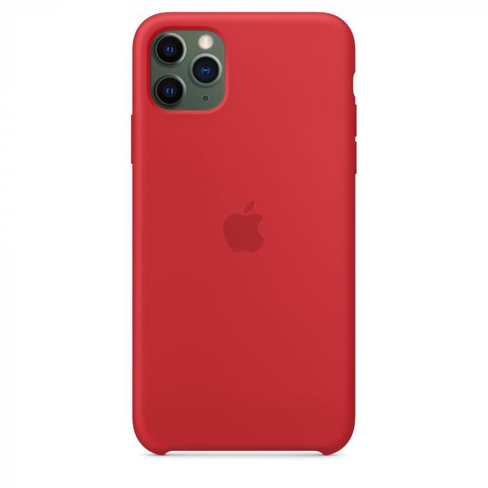 Husa Apple Silicone case IPhone 11 Pro Max rosu [0]