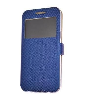 Husa cu magnet lateral Samsung Galaxy A21s albastru [0]