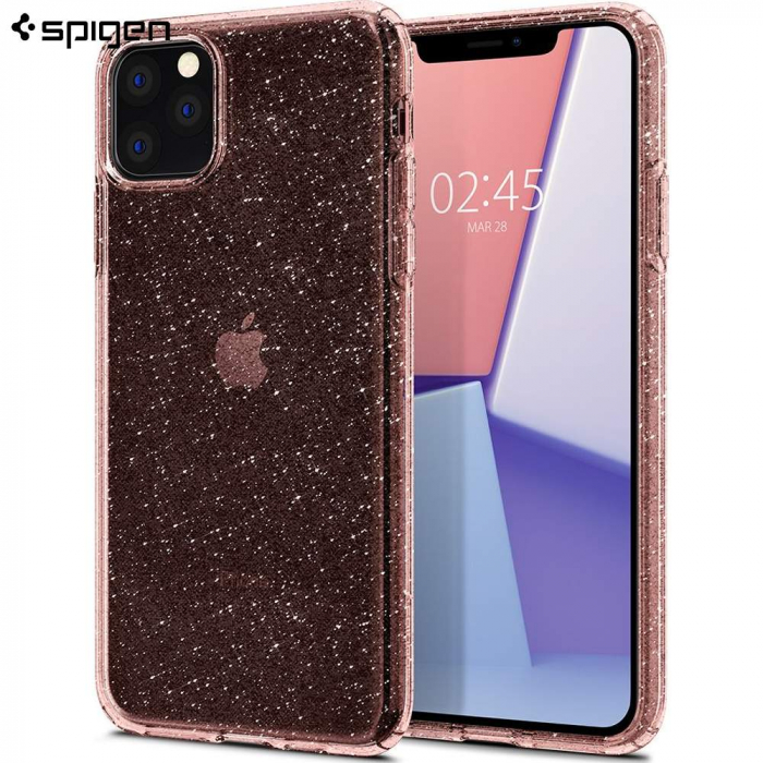 HUSA SPIGEN LIQUID CRYSTAL IPHONE 11 PRO  GLITTER ROSE 1