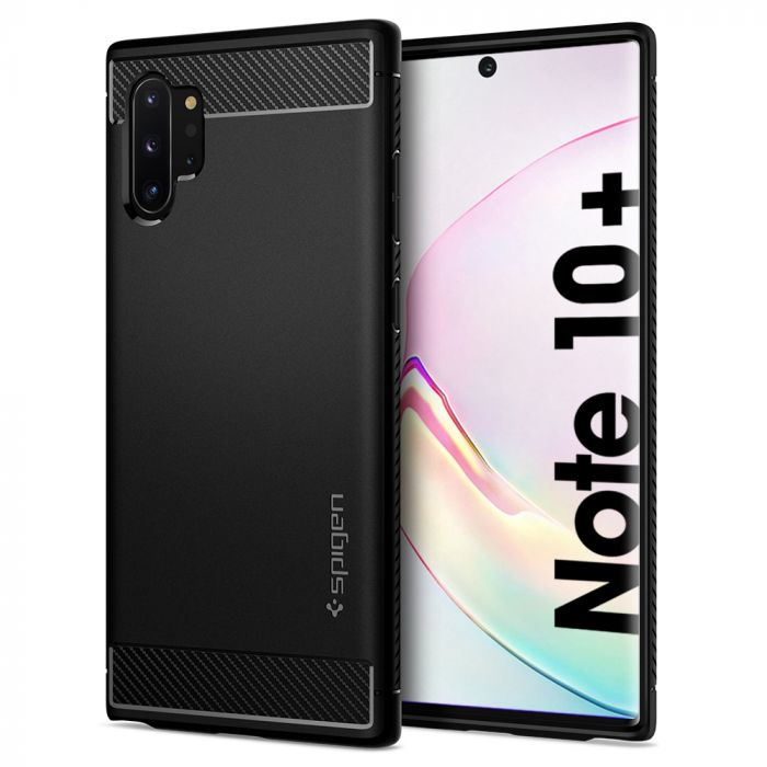 HUSA SPIGEN RUGGED ARMOR SAMSUNG GALAXY NOTE 10 PLUS BLACK 2