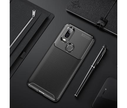 Husa TPU OEM Carbon Fiber Pentru Motorola P40, Neagra 1