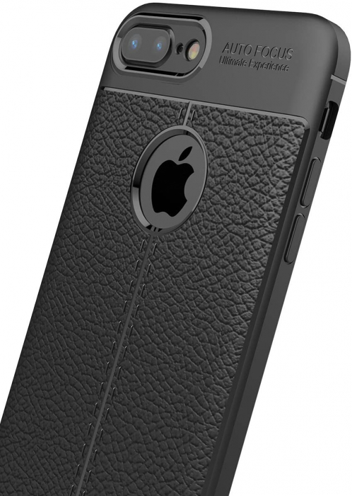 HUSA TPU SILICON APPLE IPHONE 8 PLUS BLACK LITCHI 1