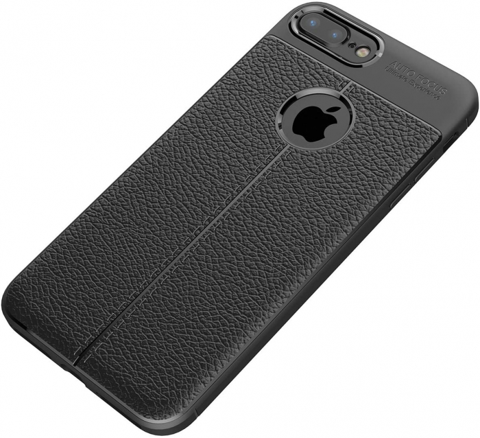 HUSA TPU SILICON APPLE IPHONE 8 PLUS BLACK LITCHI 4