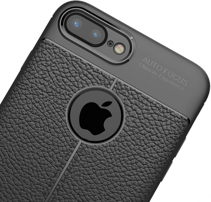 HUSA TPU SILICON APPLE IPHONE 8 PLUS BLACK LITCHI 2