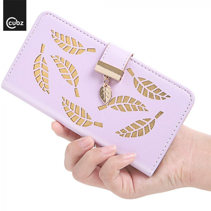 Husa Xiaomi Redmi 7A - Book Type Magnetic Leaves Pattern Pink CUBZ 1