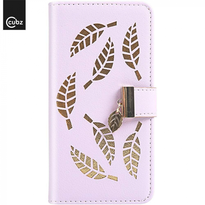 Husa Xiaomi Redmi 7A - Book Type Magnetic Leaves Pattern Pink CUBZ 2