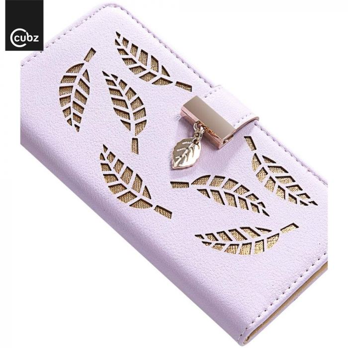 Husa Xiaomi Redmi 7A - Book Type Magnetic Leaves Pattern Pink CUBZ 4