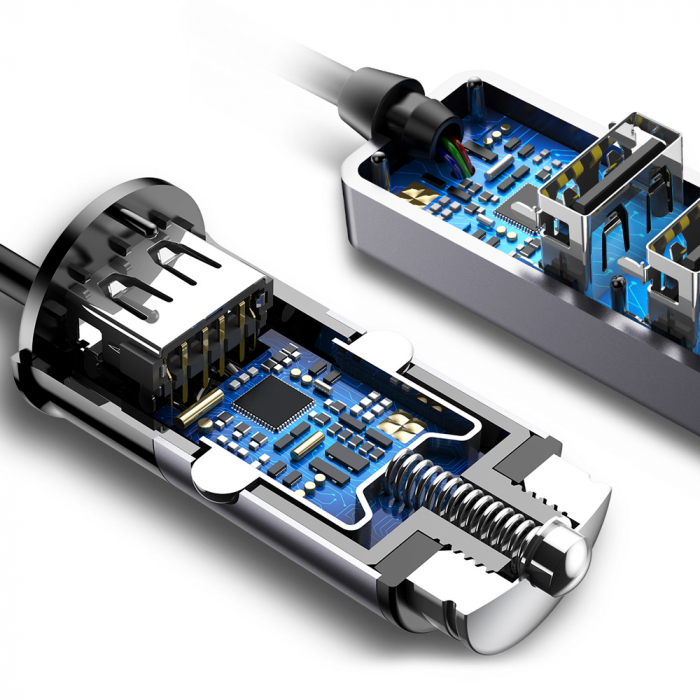 Incarcator auto Baseus Enjoy Together +4 X USB 5.5A  CCTON-01 [5]