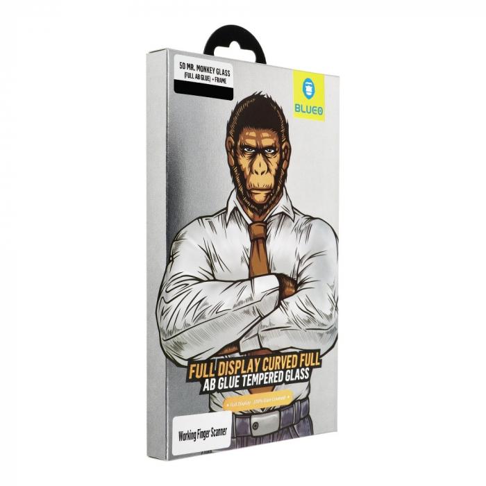 Folie 5D Mr. Monkey Samsung Galaxy S9 Plus full AB glue cu rama [0]
