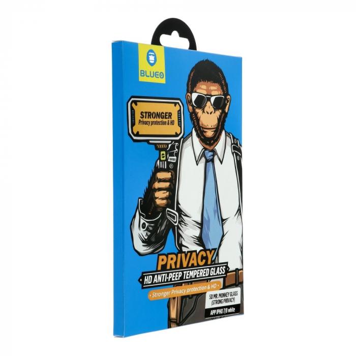 "Folie 5D Mr. Monkey Glass Iphone 12 Mini (5,4"") black Strong privacy 0"