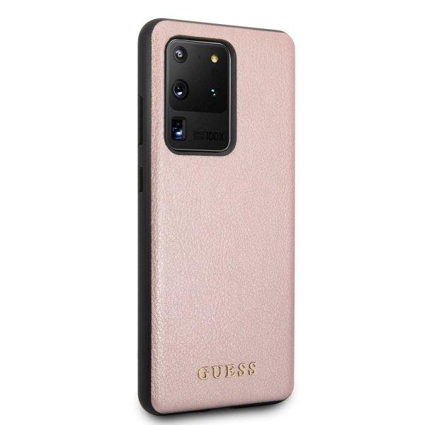 Husa Guess Iridescent Samsung Galaxy S20 Ultra Rose Gold 2