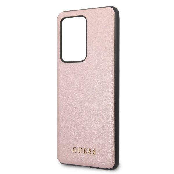 Husa Guess Iridescent Samsung Galaxy S20 Ultra Rose Gold 4