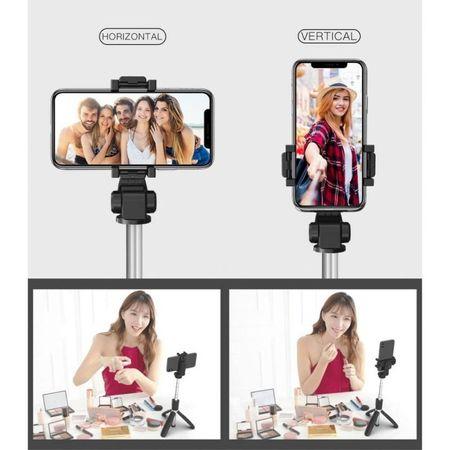 Selfie stick Tech-Protect wireless cu trepied L01S [11]