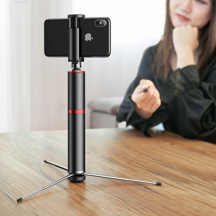 Selfie stick Baseus trepied telescopic cu bluetooth [3]