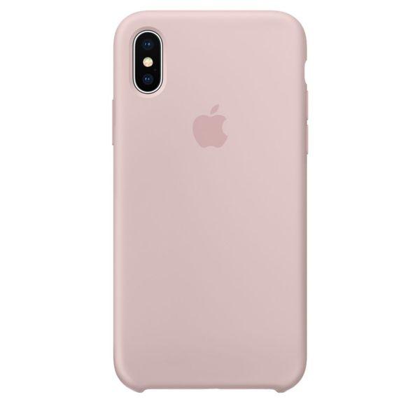 Husa de protectie Apple pentru iPhone X, Silicon, Pink Sand 0