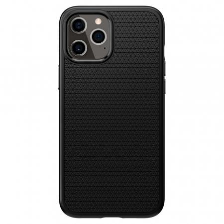 Carcasa Spigen Liquid Air iPhone 12 Pro Max Matte Black0