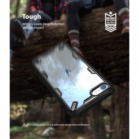 Carcasa Ringke Fusion X iPhone 7/8/SE (2020) Black3