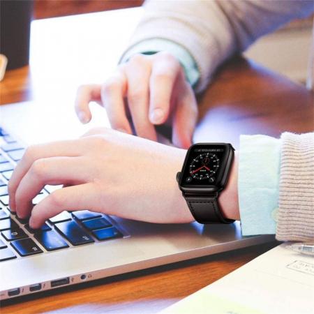 Bratara Tech-Protect Leatherfit Apple Watch 42/44mm [1]