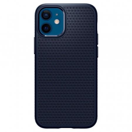 Carcasa Spigen Liquid Air iPhone 12 Mini Navy Blue0