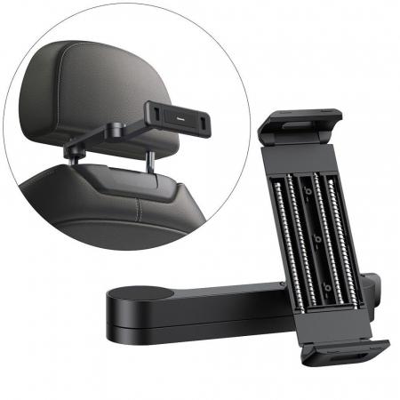 Suport auto Baseus tableta/telefon SULR-A01 montare tetiera 7-12.3 inch [0]