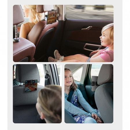 Suport auto Baseus tableta/telefon SULR-A01 montare tetiera 7-12.3 inch [8]